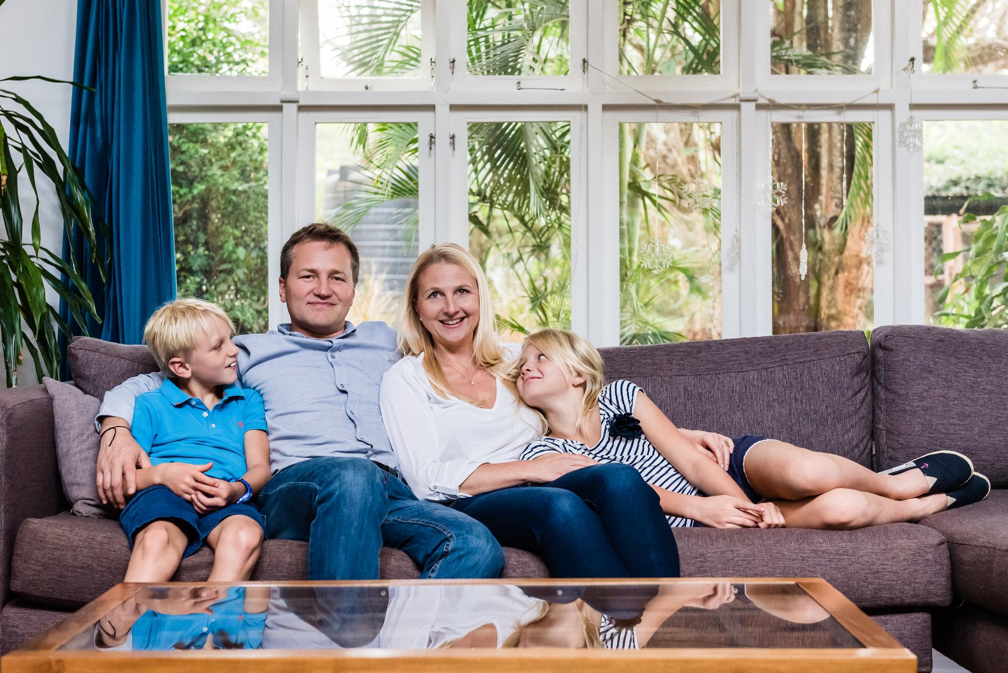 Indoor natural family portrait Bury St Edmunds