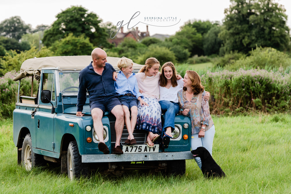 Summer outdoor family photography in Suffolk