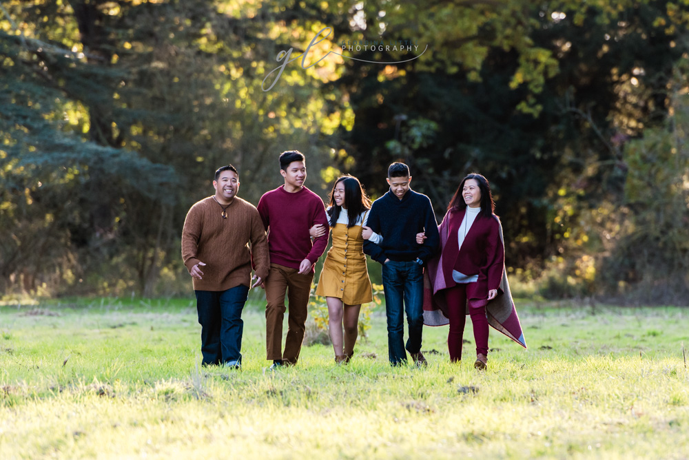 Family Photoshoot in the Autumn leaves in Suffolk