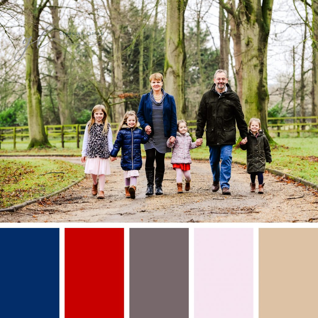 Family Photoshoot - Winter Wardrobe Colours